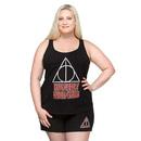 Harry Potter Deathly Hallows Plus Tank and Short Set - Black