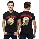 Angry Beavers Front and Back T-Shirt - Black