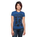Doctor Who Tenth Doctor Icons Ladies' T-Shirt - Blue
