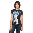 Doctor Who Tenth Doctor and K-9 Ladies' T-Shirt - Black