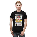 Super Mario Danger Ahead T-Shirt - Black