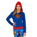 Supergirl Hoodie - Blue/Red