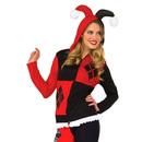 Harley Quinn Hoodie - Red/Black