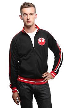 Star Wars Rebel Logo Track Jacket - Black