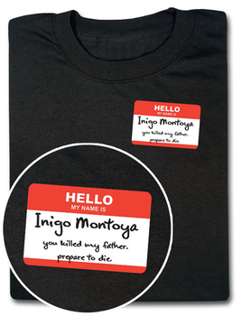 Hello My Name Is Inigo Montoya T-Shirt - Black