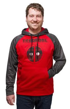 Deadpool Space Dye Hoodie - Red