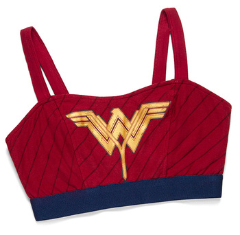 Wonder Woman Caged-Back Sports Bra - Red