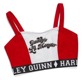 Harley Quinn Caged-Back Sports Bra - Red