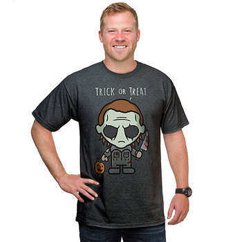 Halloween Michael Myers Trick or Treat T-Shirt - Grey