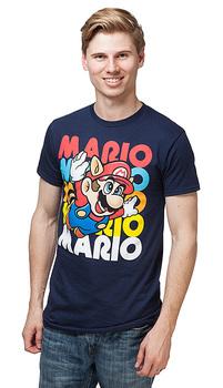 Super Mario Flying Free T-Shirt - Navy
