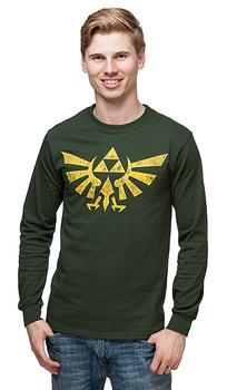 Legend of Zelda Hyrule Crest Long Sleeve T-Shirt - Green