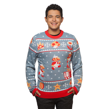 Super Mario Bros. Holiday Sweater - Blue