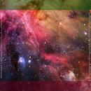 Starfield Nebulae Red 3'x3' Playmat