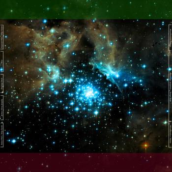 Starfield Galaxy 3'x3' Playmat