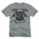 The Game of Thrones Night Watchers Oath Adult Light Gray T-Shirt