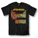 Sci-Fi Movie Star Wars Periodic Table Crew T-shirt