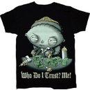 Stewie Who Do I Trust? Me! Scarface Sparkle T-Shirt