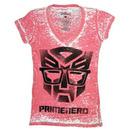 Transformers Primenerd Red V-Neck T-shirt