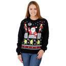 DJ Santa Claus Ugly Christmas Sweatshirt