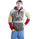 Darker Boba Fett Brown Costume Hoodie Zip Up Sweatshirt