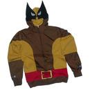 Wolverine Adult Brown Costume Hoodie Sweatshirt