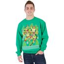 TMNT Fight Stance Ugly Christmas Xmas Sweatshirt
