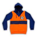 Dragon Ball Z Goku Symbol Costume Zip Up Hoodie Sweatshirt