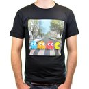 Pac-man Crossing Beatles Abbey Road T-shirt