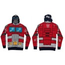 Optimus Prime Adult Zip Up Costume Hoodie Sweatshirt