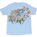 DC Comics Superheros Distressed T-shirt