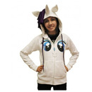 Rarity Face Costume Hoodie with Mane & Horn