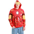Iron Man Costume Zip-Up Hooded Sweathshirt Hoodie