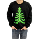 Ugly Christmas Marijuana Christmas Tree Sweatshirt