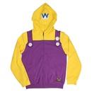 Wario Adult Costume Zip Up Hoodie Sweatshirt