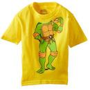 TMNT Michelangelo Headless Pizza Yellow T-Shirt