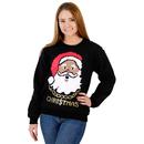 Black Santa Claus with Chain Ugly Christmas Sweatshirt