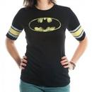 Batman Distressed Logo Raglan Hockey T-Shirt