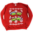 TMNT Faces Red Ugly Christmas Sweatshirt