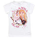 Disney Frozen Anna and Olaf White T-Shirt