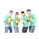 TMNT Long Sleeves Costume Toddlers T-shirt & Eye Mask