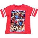 Superman Man Of Steel Comic Book Print T-Shirt