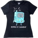 Beemo Is Camera Juniors Black T-shirt