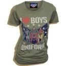 Marvel I Heart (Love) Boys In Uniform T-shirt