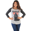 Star Wars The Dark Side Made Me Do It Juniors Raglan T-Shirt