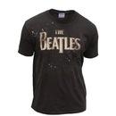 The Beatles Paint Splatter Logo Washed T-shirt