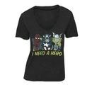 Marvel Comics I Need A Hero Black V-neck T-shirt