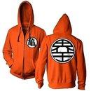 Kame Symbol Zip-Up Hoodie Sweatshirt