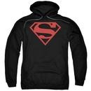 Superman Red Shield Logo Hooded Sweatshirt Hoodie