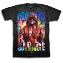 WWE Macho Man Randy Savage Image In Text T-Shirt