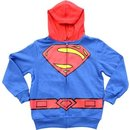 Superman Logo Boys Zip Up Costume Hoodie Sweatshirt